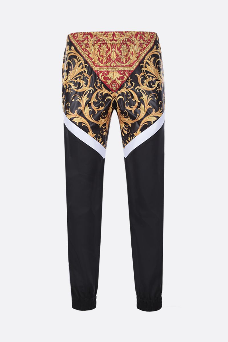 VERSACE: Le Pop Classique print nylon joggers Color Black_1