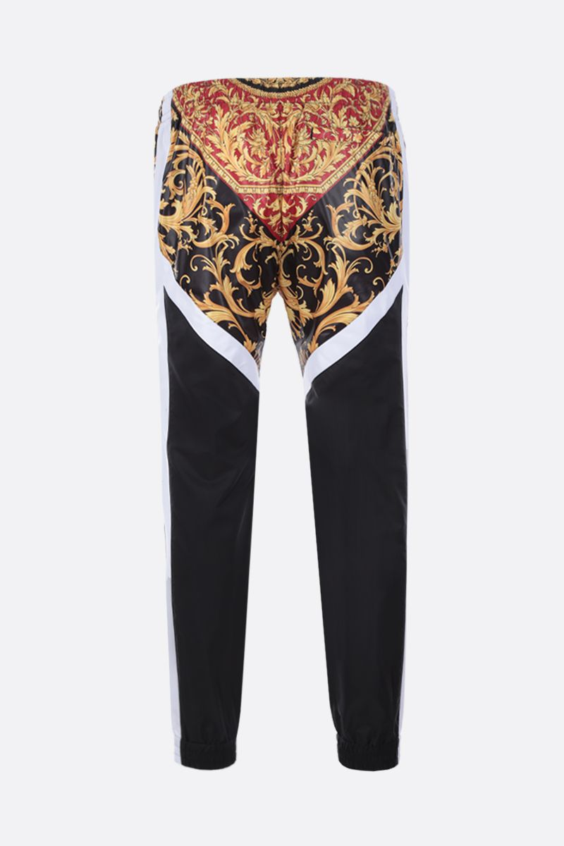 VERSACE: Le Pop Classique print nylon joggers Color Black_2
