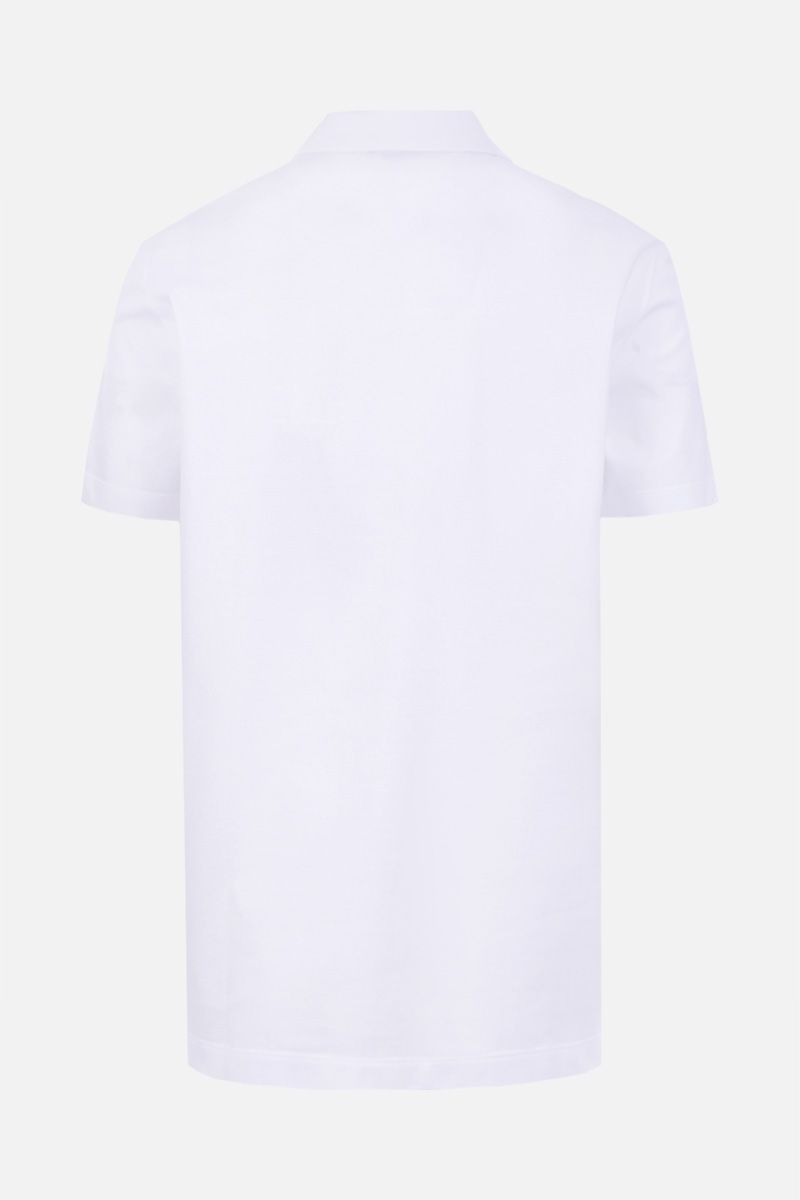 VERSACE: Medusa embroidered piquet polo shirt Color White_2
