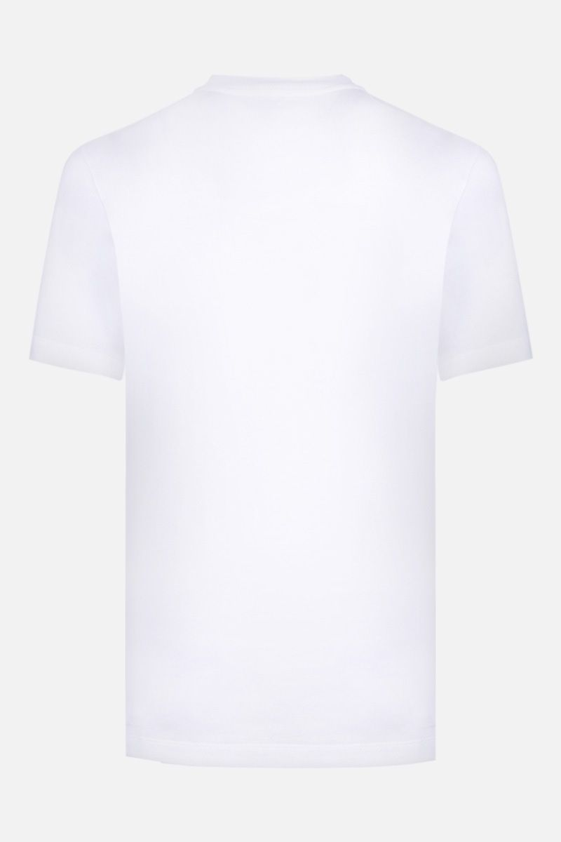 VERSACE: Versace Profumi print cotton t-shirt Color White_2