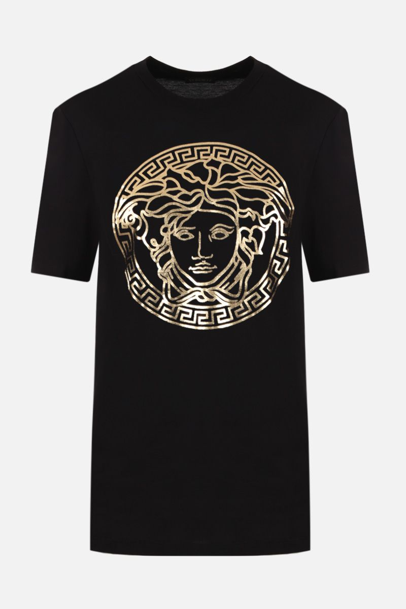 VERSACE: Medusa print cotton t-shirt Color Black_1