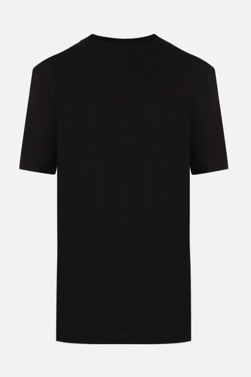 VERSACE: Medusa print cotton t-shirt Color Black_2
