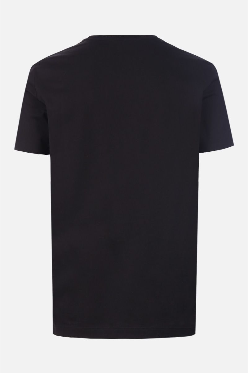 VERSACE: License Plate print cotton t-shirt Color Black_2
