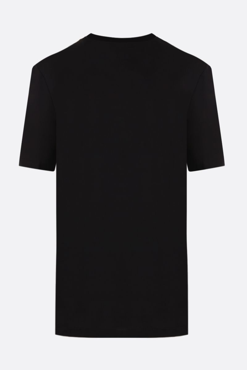 VERSACE: Jungle logo print cotton t-shirt Color Black_2