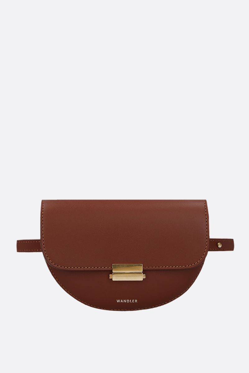 WANDLER: Anna buckle belt bag in smooth leather Color Brown_1