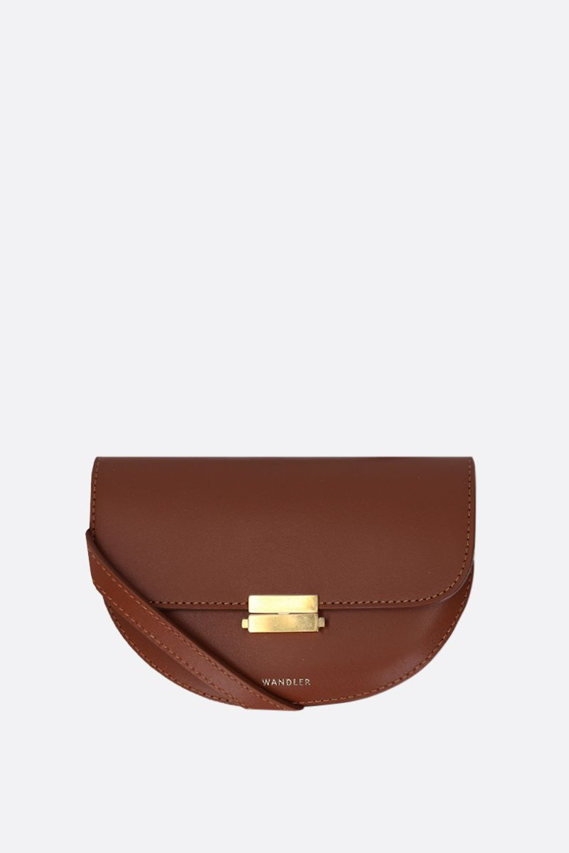 WANDLER: Anna buckle belt bag in smooth leather Color Brown_2