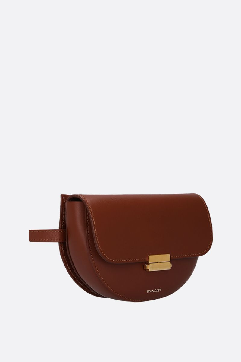 WANDLER: Anna buckle belt bag in smooth leather Color Brown_3