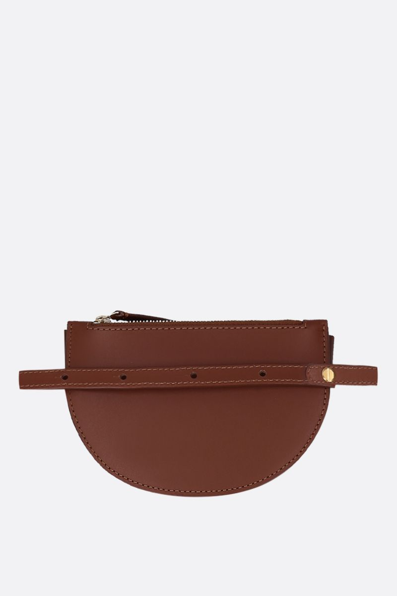 WANDLER: Anna buckle belt bag in smooth leather Color Brown_4