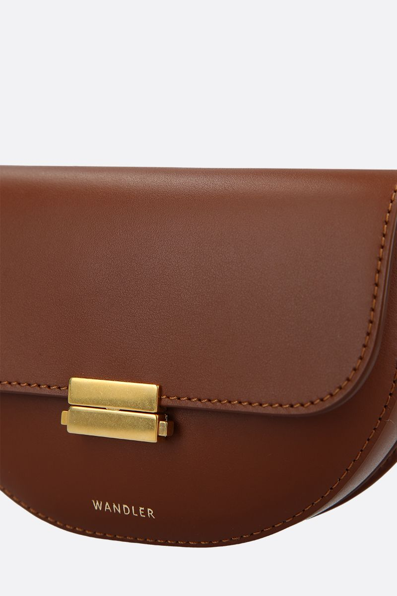 WANDLER: Anna buckle belt bag in smooth leather Color Brown_5