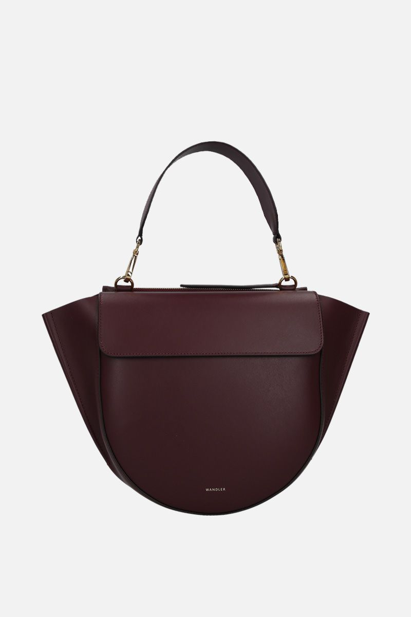 WANDLER: Hortensia mini handbag in smooth leather Color Red_1
