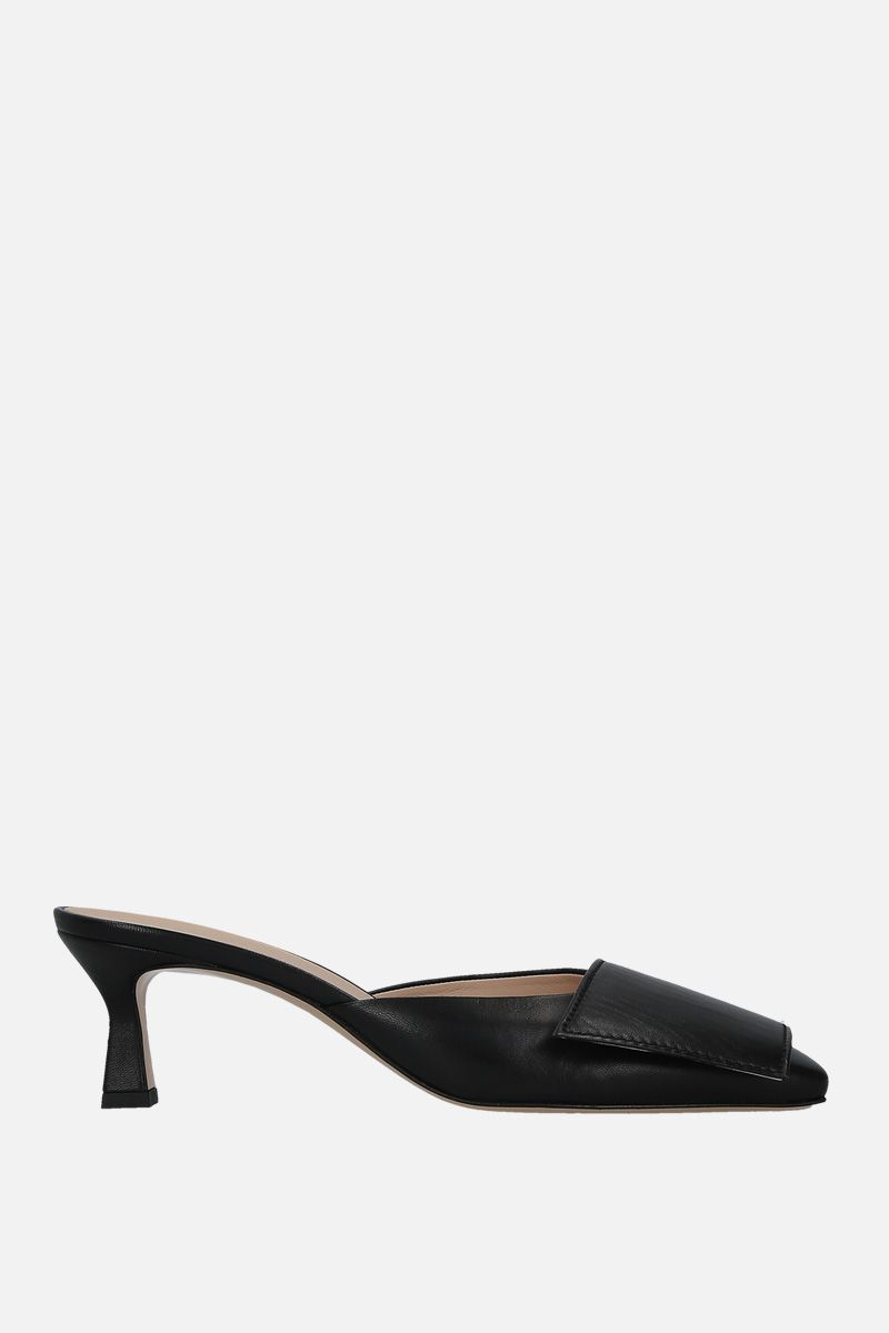 WANDLER: Isa mules in soft nappa Color Black_1