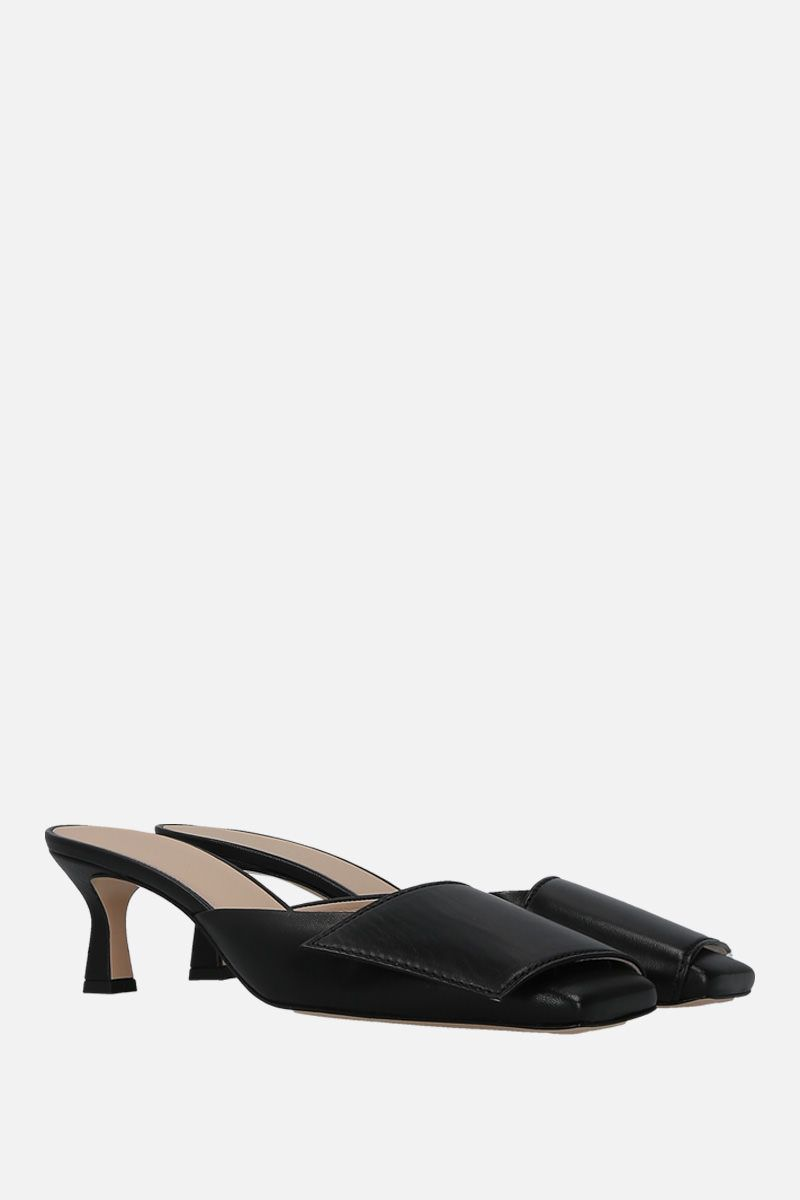 WANDLER: Isa mules in soft nappa Color Black_2