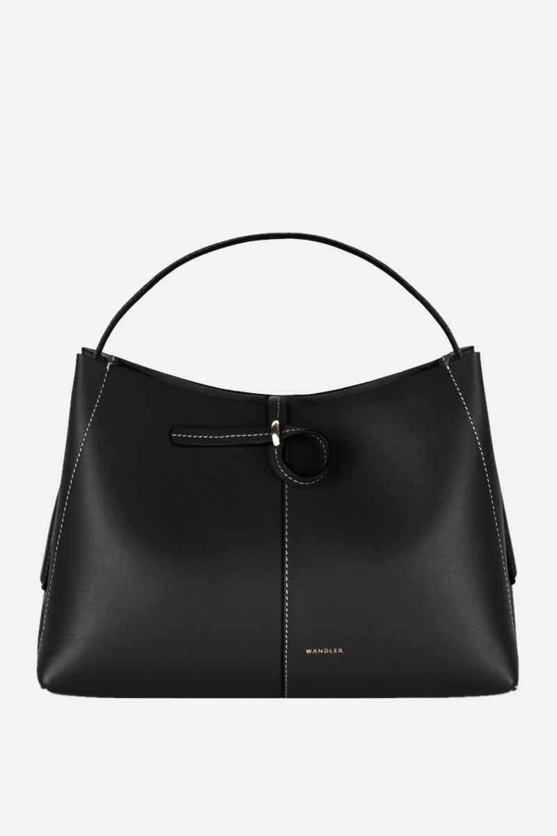 WANDLER: Ava mini smooth leather tote Color Black_1