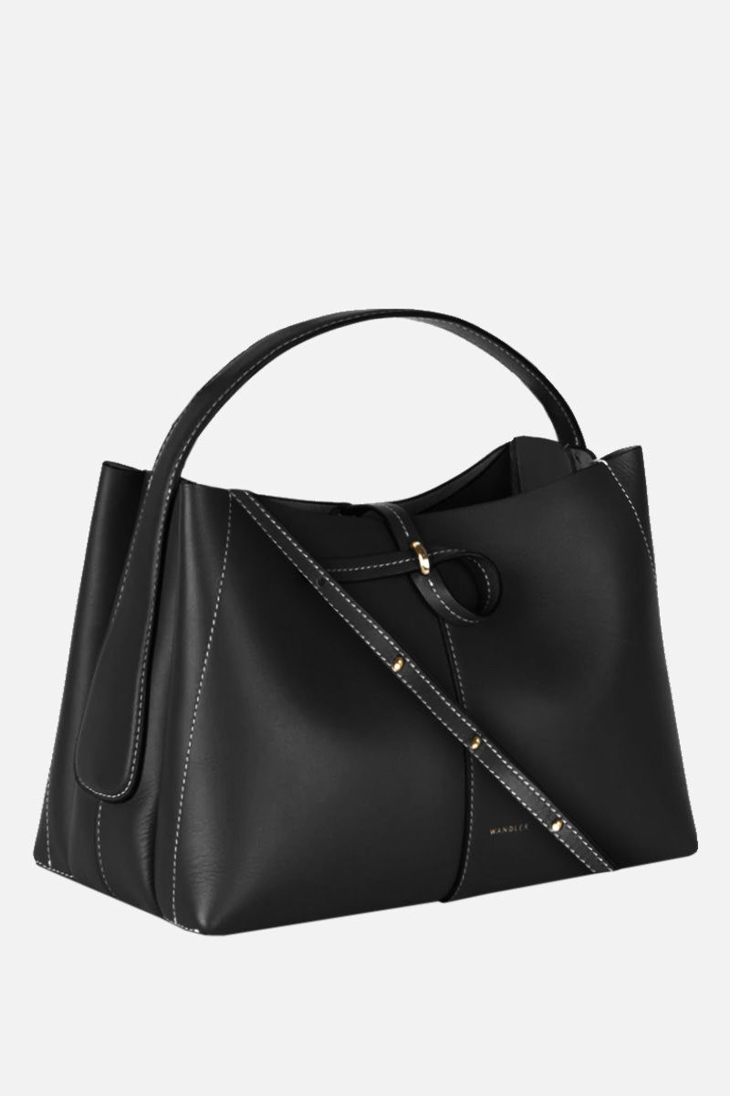WANDLER: Ava mini smooth leather tote Color Black_2