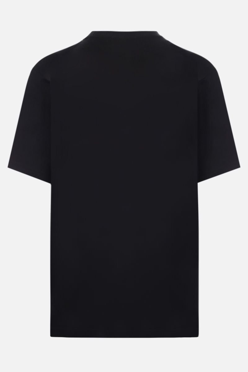 Y-3: logo print cotton t-shirt Color Black_2