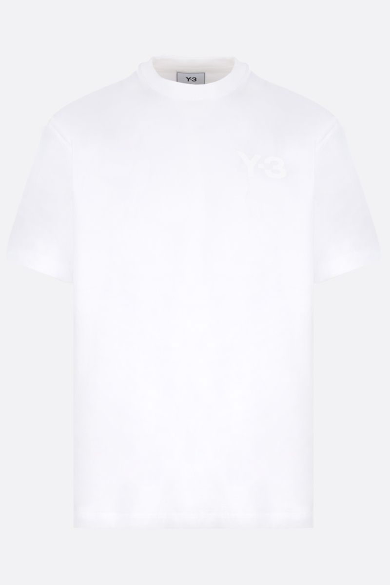 Y-3: logo print cotton t-shirt Color White_1