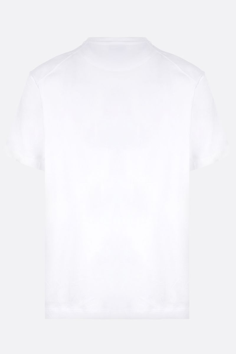 Y-3: logo print cotton t-shirt Color White_2