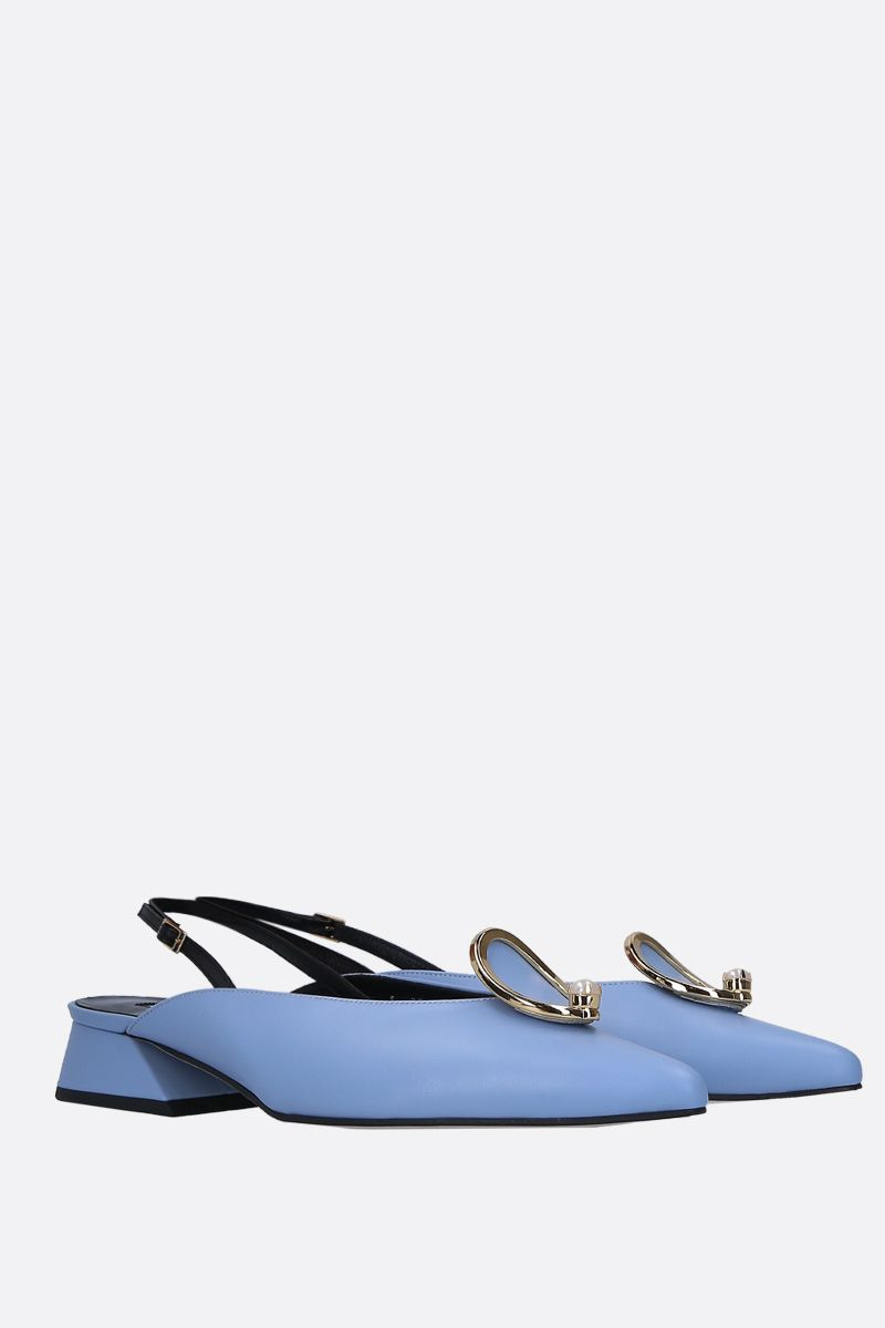 YUUL YIE: Zizi slingbacks in smooth leather Color Blue_2