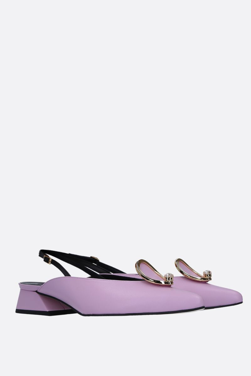 YUUL YIE: Zizi slingbacks in smooth leather Color Pink_2