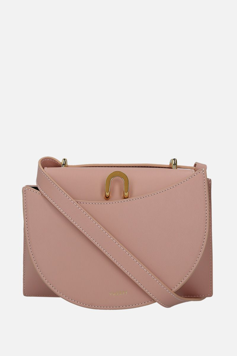 YUZEFI: Edith shoulder bag in smooth leather Color Pink_1