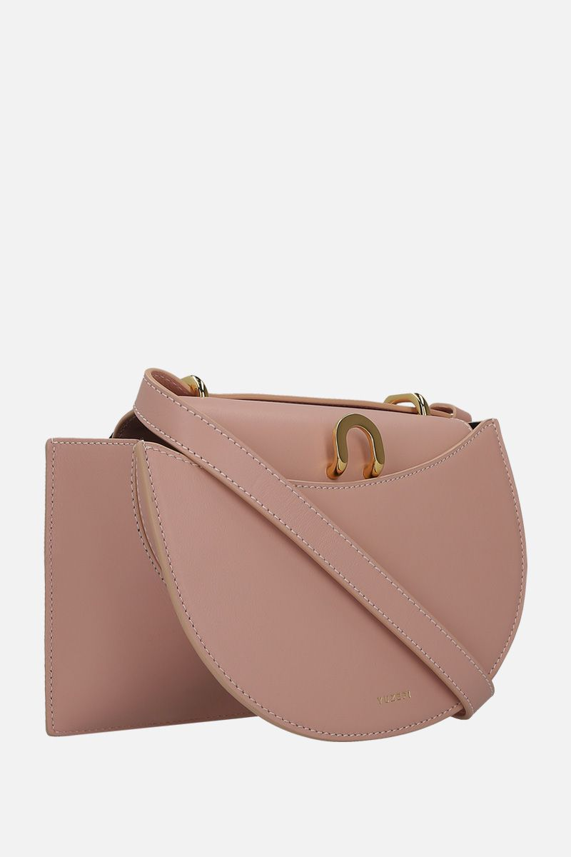 YUZEFI: Edith shoulder bag in smooth leather Color Pink_2