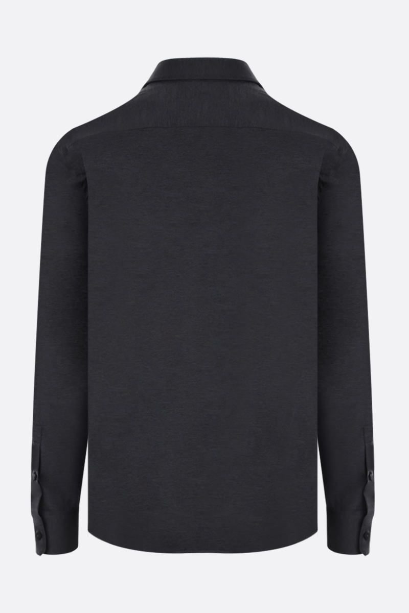 Z ZEGNA: technical fabric slim-fit shirt Color Grey_2