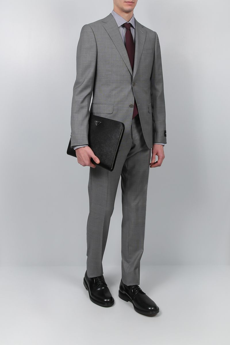 Z ZEGNA: two-pieces suit in wool Color Grey_2