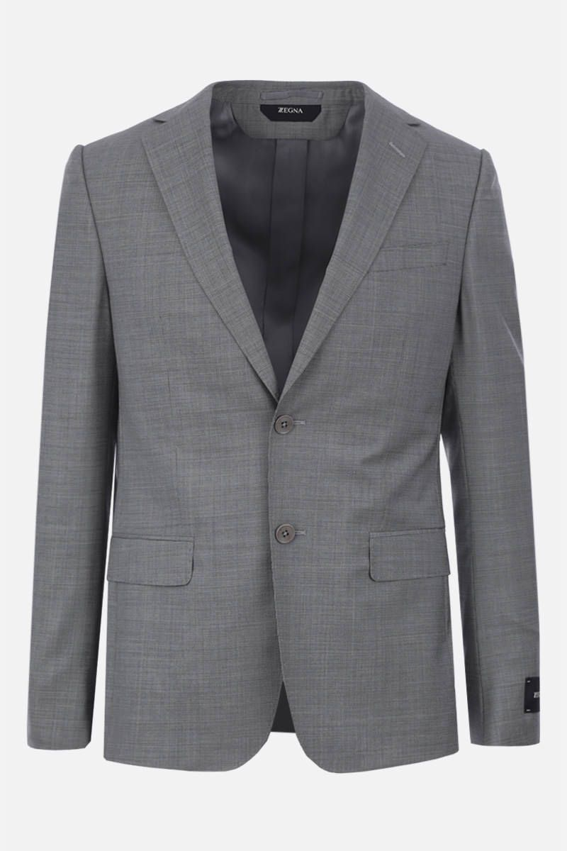 Z ZEGNA: two-pieces suit in wool Color Grey_4