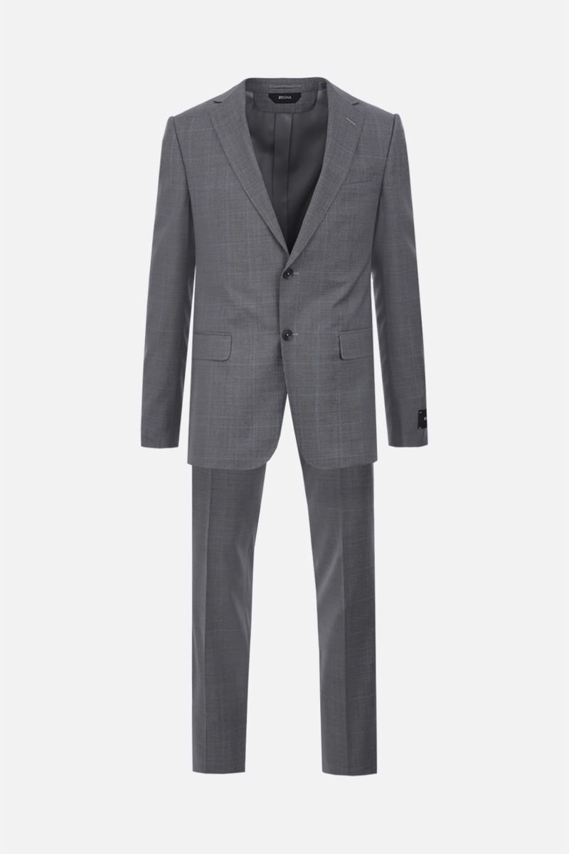 Z ZEGNA: two-pieces suit in prince of Wales wool Color Grey_1