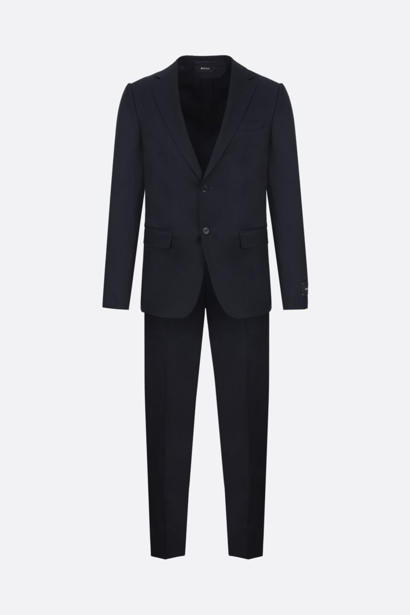Z ZEGNA: two-pieces suit in wool mohair blend Color Blue_1
