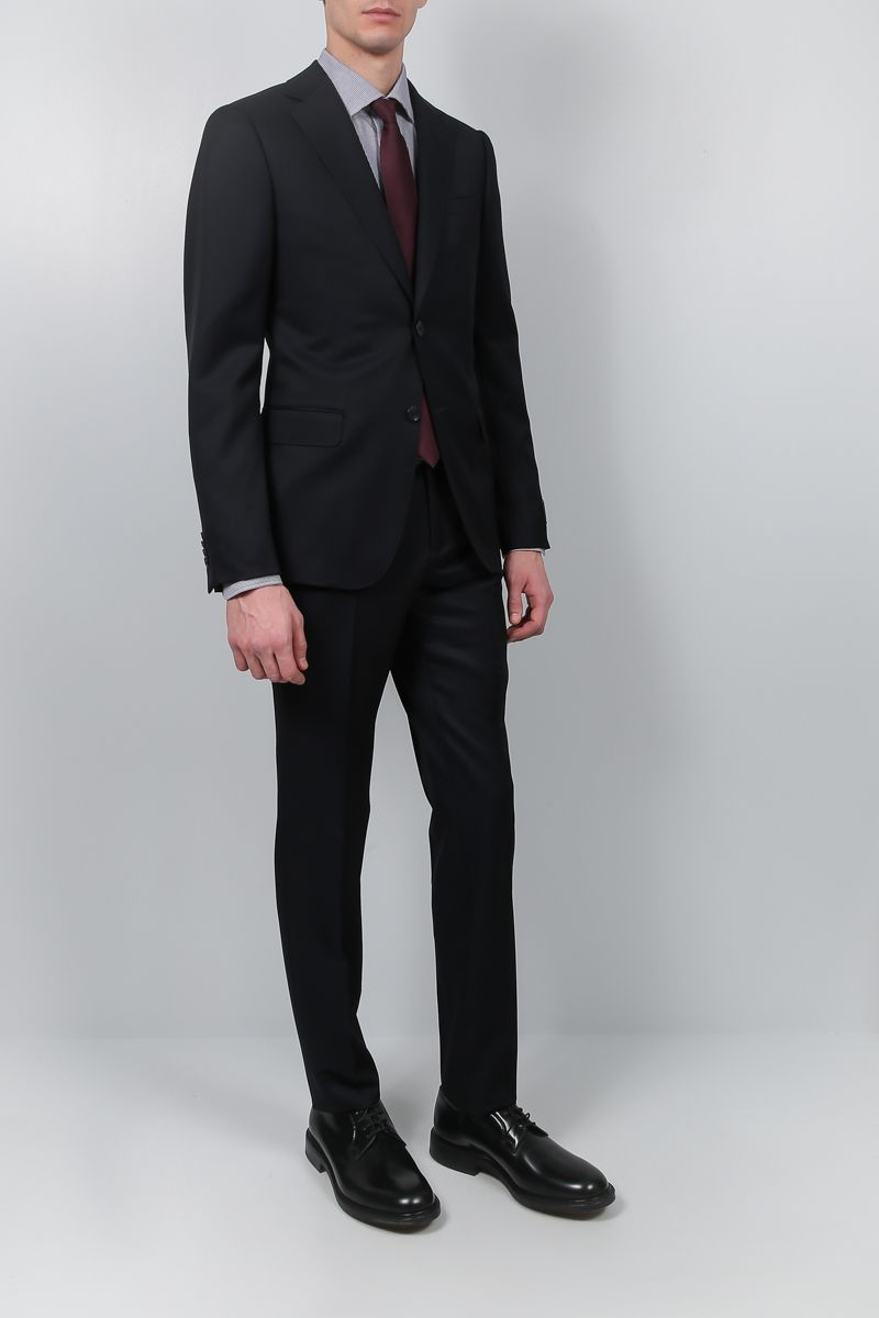 Z ZEGNA: two-pieces suit in wool mohair blend Color Blue_2
