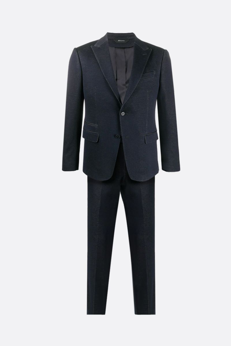 Z ZEGNA: cotton jersey two-pieces suit Color Blue_1