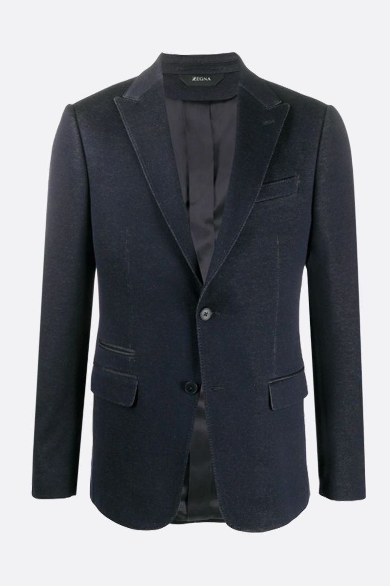 Z ZEGNA: cotton jersey two-pieces suit Color Blue_2