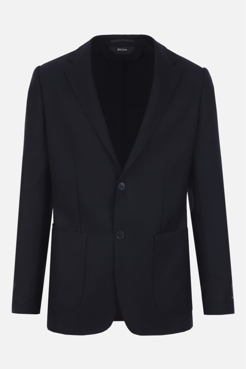 Z ZEGNA: Techmerino wool single-breasted jacket Color Black_1