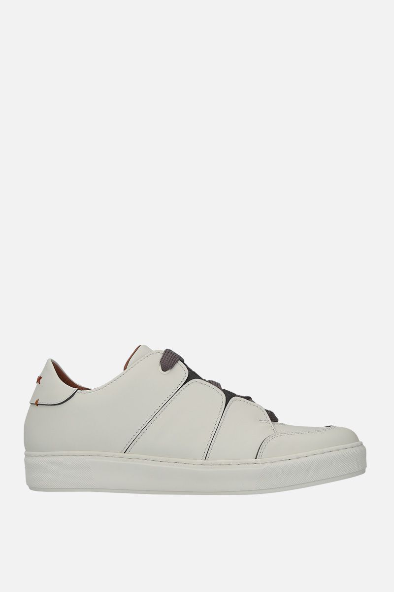 Z ZEGNA: Tiziano low-top sneakers in smooth leather Color Neutral_1