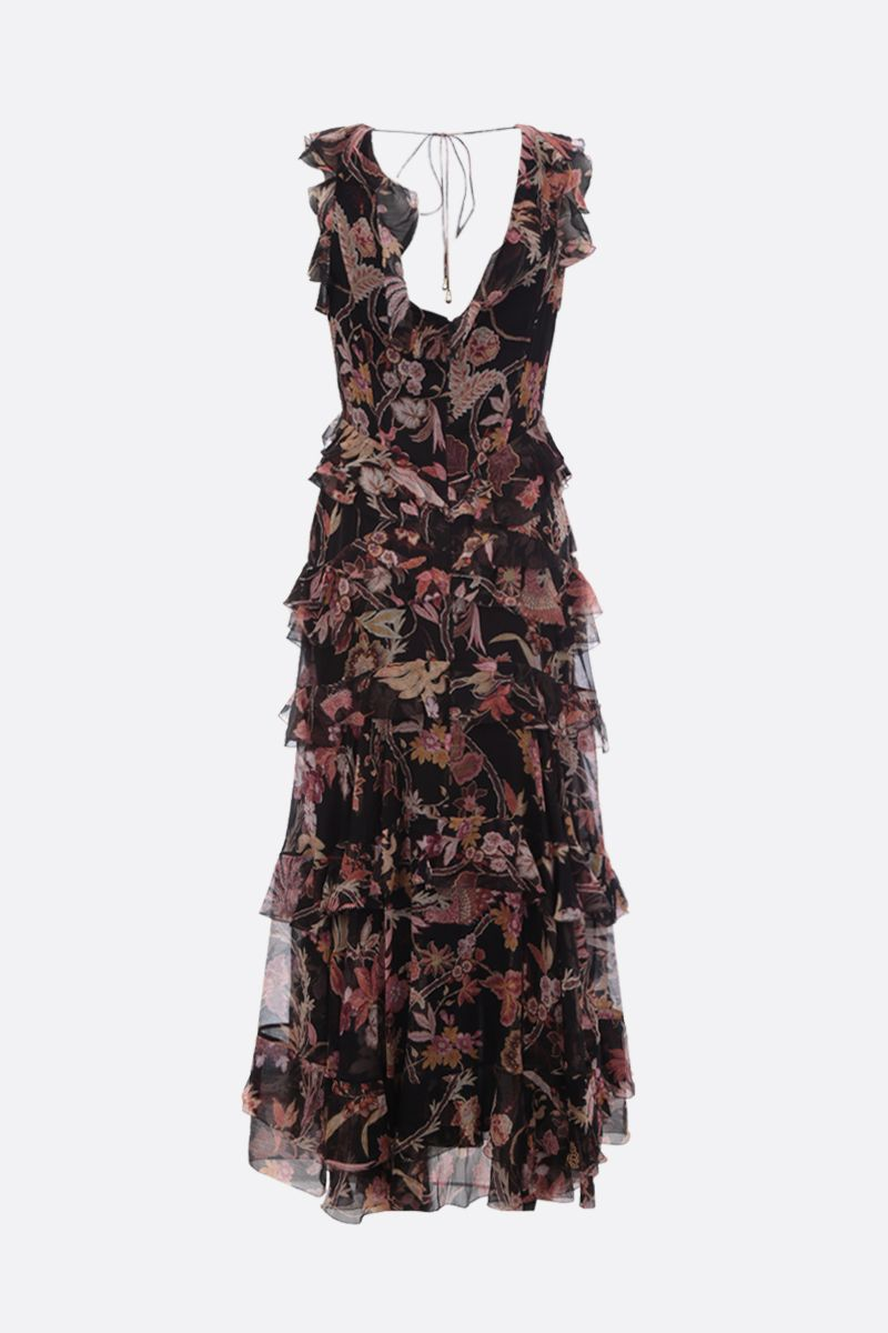 ZIMMERMANN: Phoenix printed silk midi dress Color Black_3