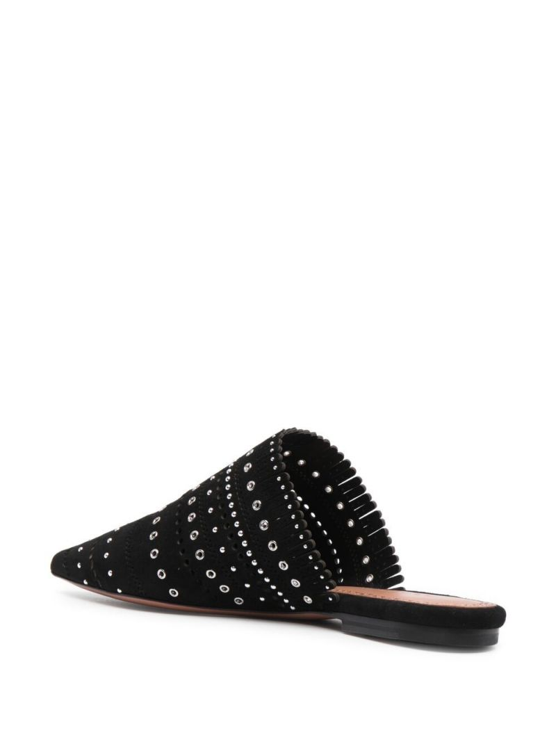 ALAIA: studded suede mules Color Black_2