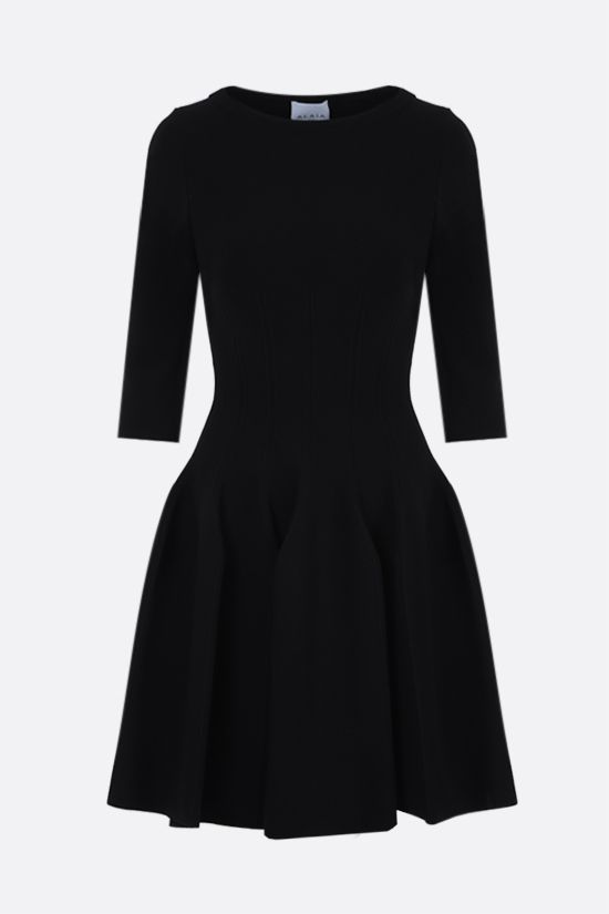ALAIA: tecnical knit short dress Color Black_1