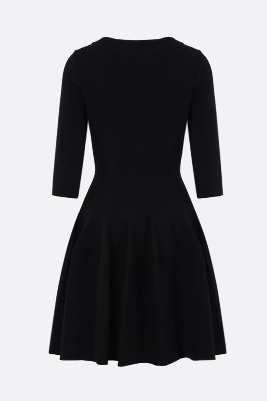 ALAIA: tecnical knit short dress Color Black_2