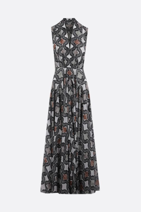ALAIA: Python print silk sleeveless dress Color White_1