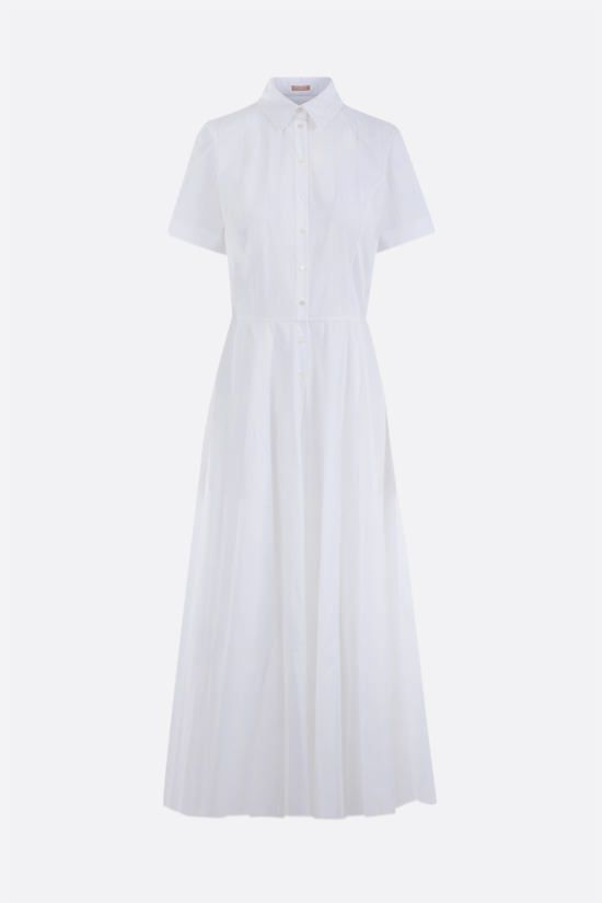 ALAIA: laser-cut poplin shirt dress Color White_1