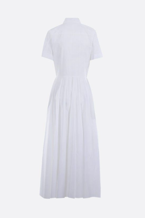 ALAIA: laser-cut poplin shirt dress Color White_2