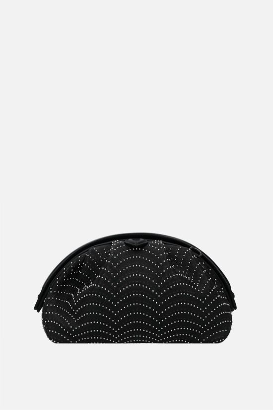 ALAIA: Samia 21 studded leather clutch Color Black_1