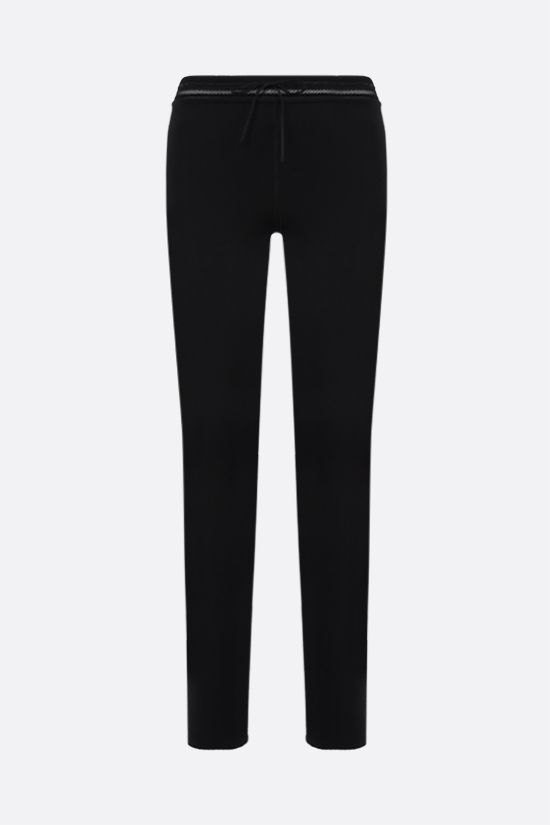 ALAIA: technical knit leggings Color Black_1