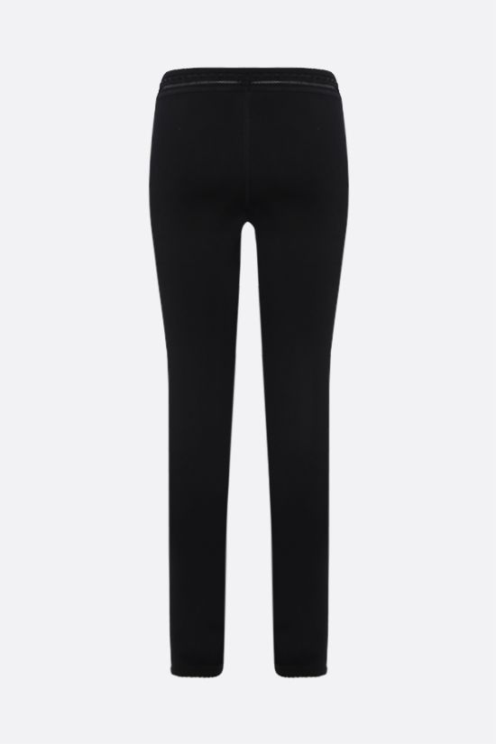 ALAIA: technical knit leggings Color Black_2