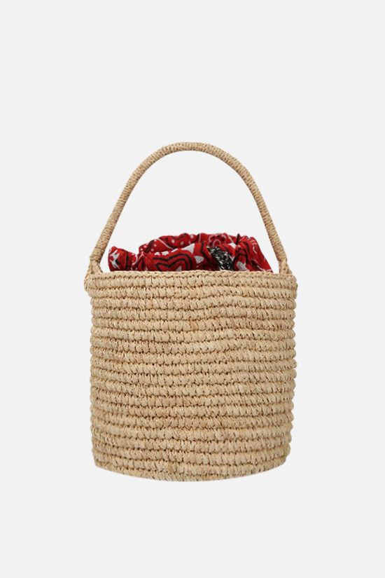 ALANUI: raffia mini bucket bag Color Neutral_1