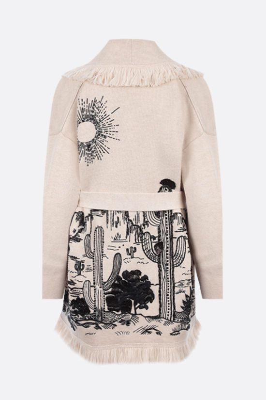 ALANUI: cardigan oversize The Shaded Canyon in lana Colore Bianco_2