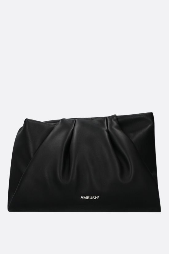 AMBUSH: Wrap nappa clutch Color Black_1