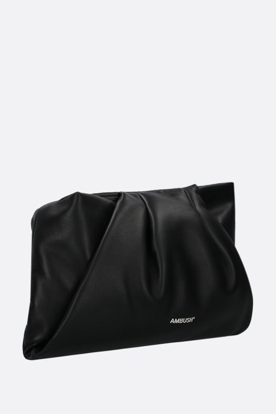 AMBUSH: Wrap nappa clutch Color Black_2