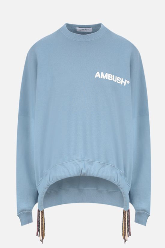 AMBUSH: Multicord oversize cotton sweatshirt Color Blue_1
